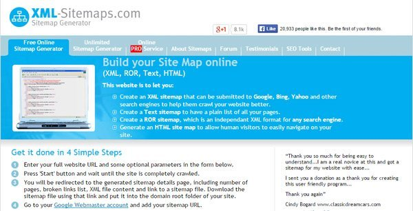 Sitemap Generator – Generate XML Sitemap