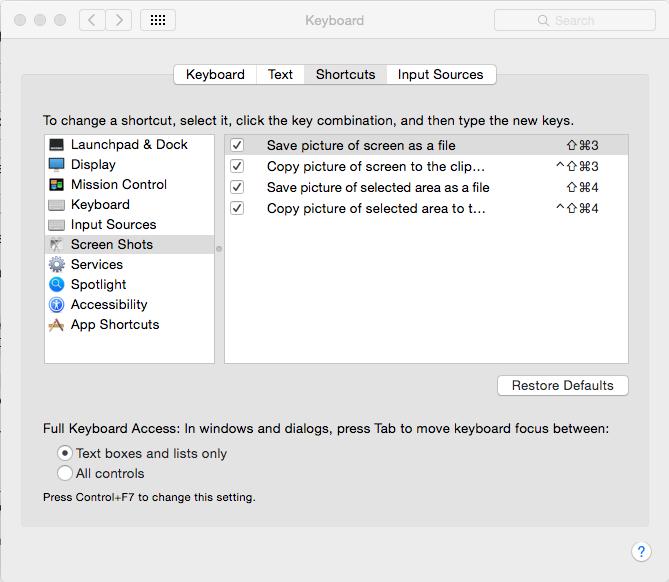 Screenshot-tool for MAC snipping-tool
