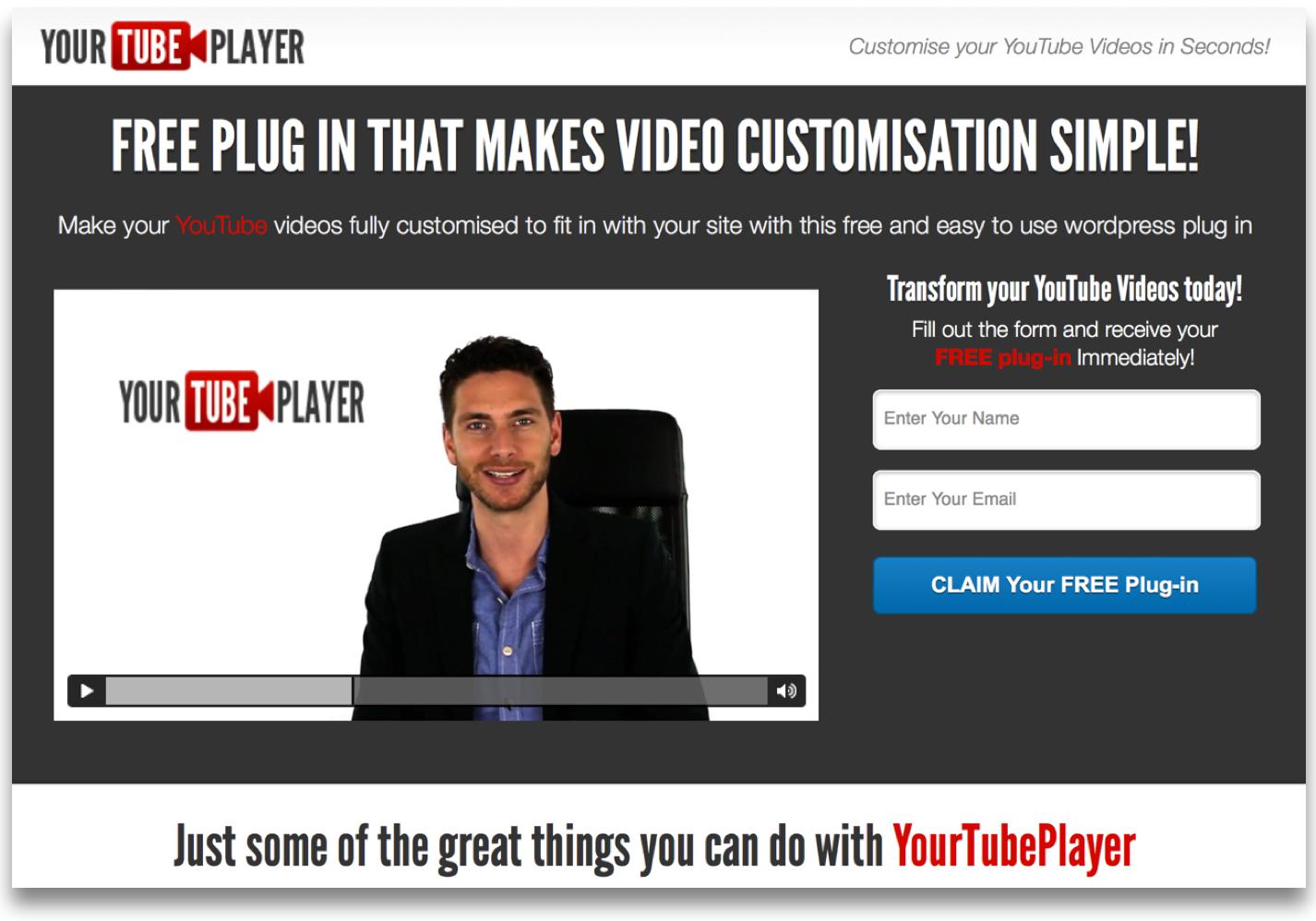 YouTube Player Free WorPress Plugin