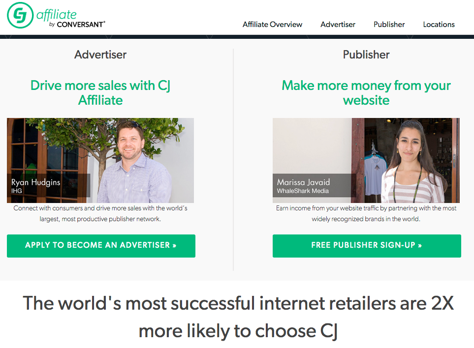 affiliate network - Commission Junction