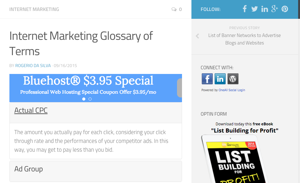 Internet Marketing Glossary of Terms