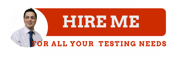 Hire me for all your testing needs