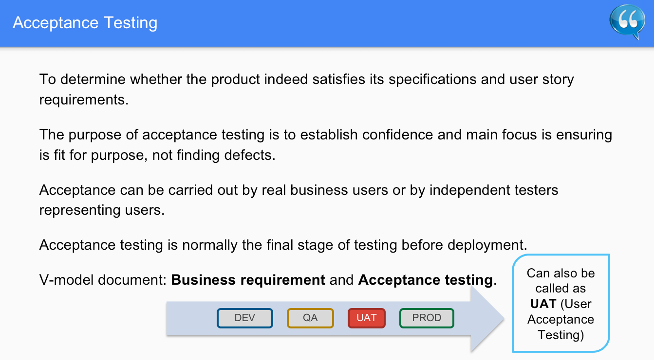 Acceptance Testing – Software Testing