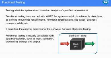 Functional Testing - Software Testing