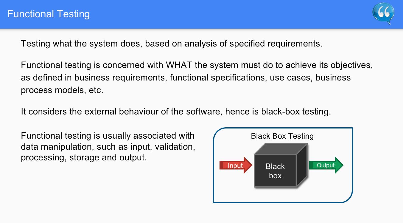 Functional Testing – Software Testing