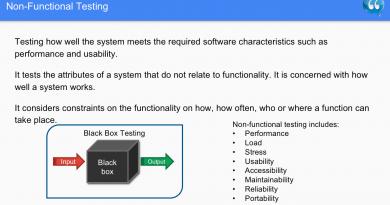 Non-functional testing - Software Testing
