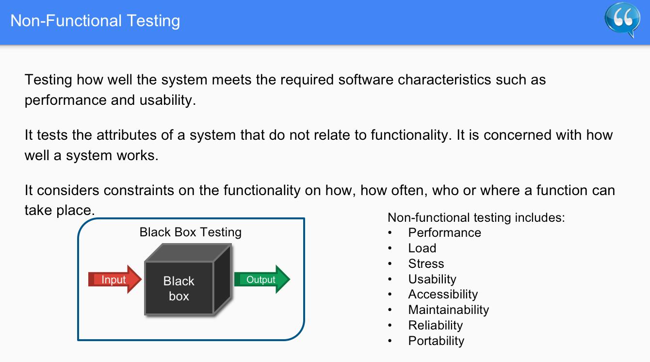 Non Functional Testing – Software Testing