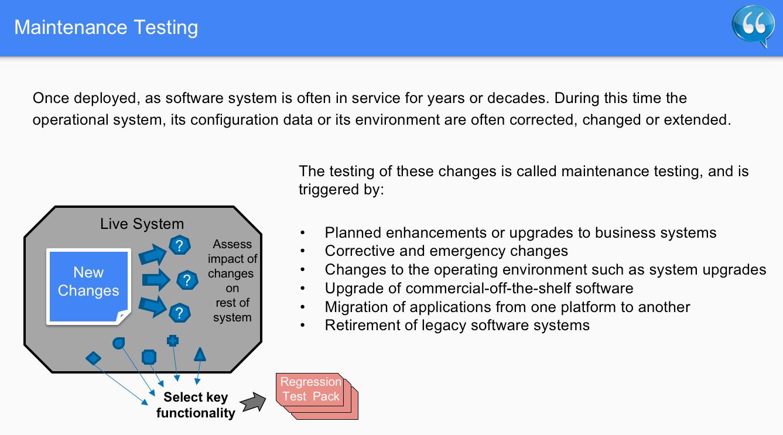 Maintenance Testing – Software Testing