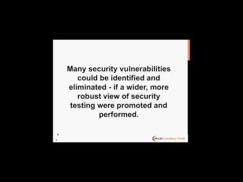 Security Testing Missing Link Webinar   Feb 9 2017