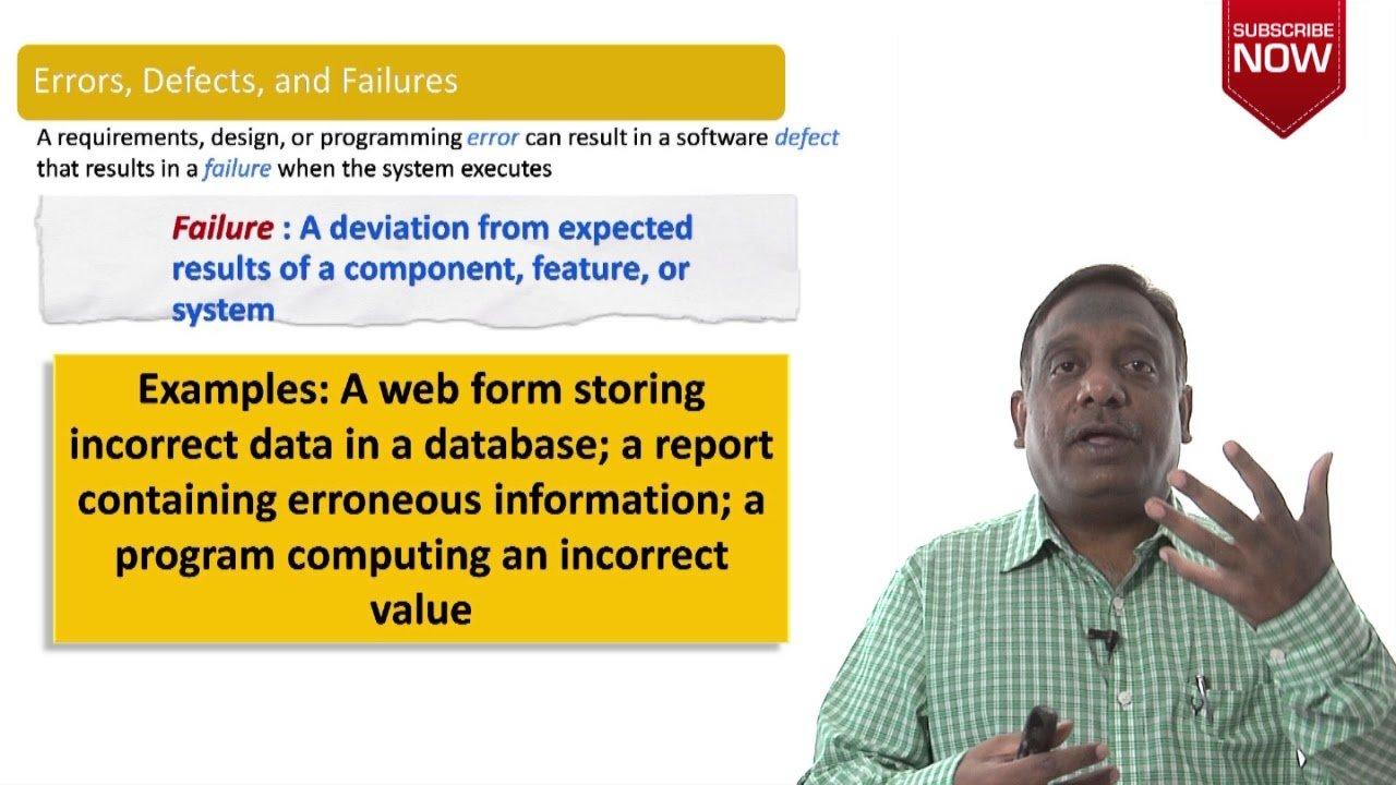 Software Testing Tutorials – ISTQB Certification : Chapter 1 – Testing Basics (Error-Fault-Failure)
