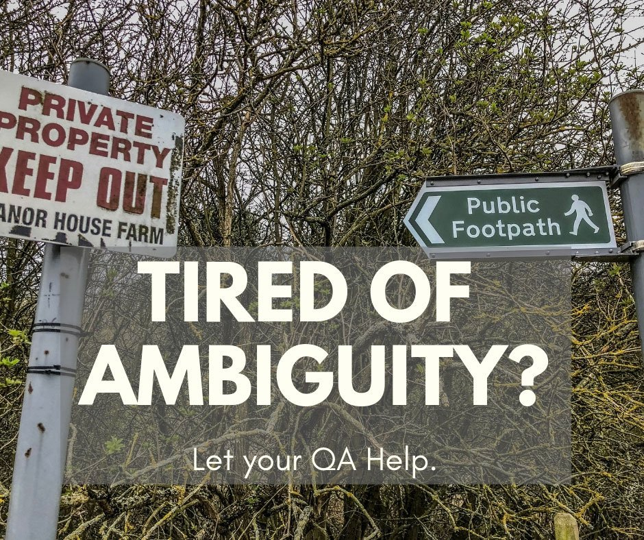 Aren't You Tired of Ambiguity?
